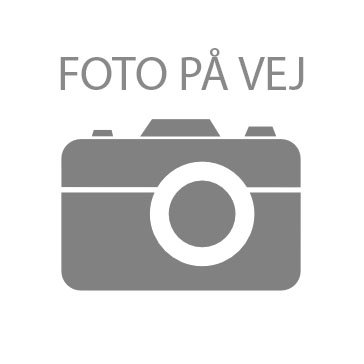 Rackskinne i stål, enkelt, 2 meter, Sort